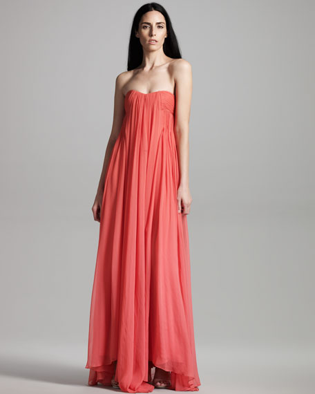 Long Pleated Gown