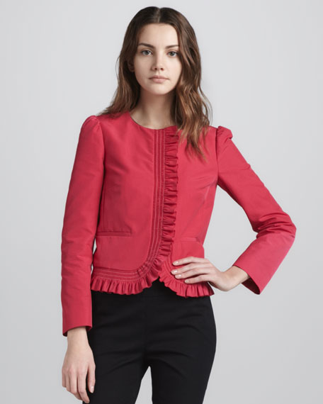 Ruffle-Trimmed Jacket