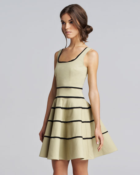 Striped Tricotine Dress