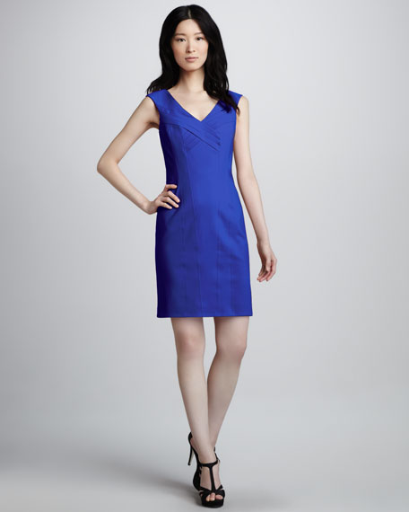 Sleeveless Crisscross-Front Dress