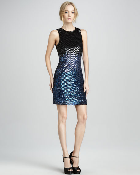 Ombre-Sequin Dress