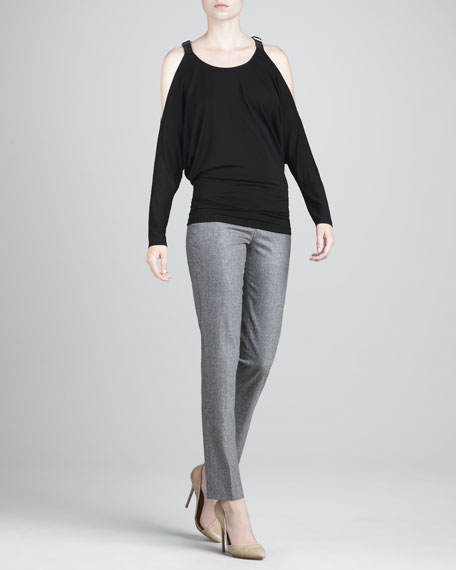 Samantha Straight-Leg Flannel Pants
