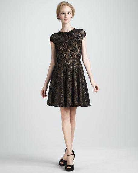 Heidi Metallic-Lace Dress