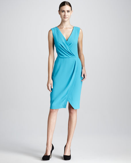 Basic Faux-Wrap Dress