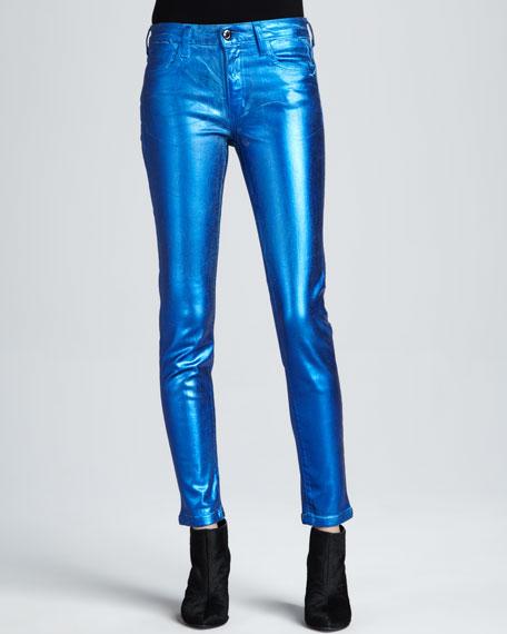 The Skinny Metallic Jeans