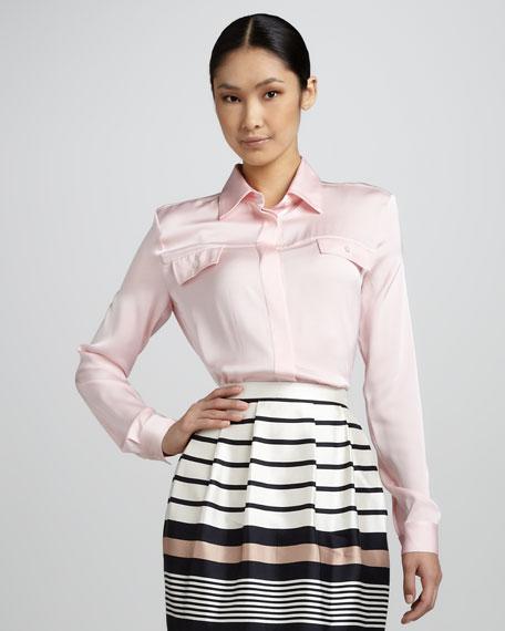 Mini Bell Striped Skirt