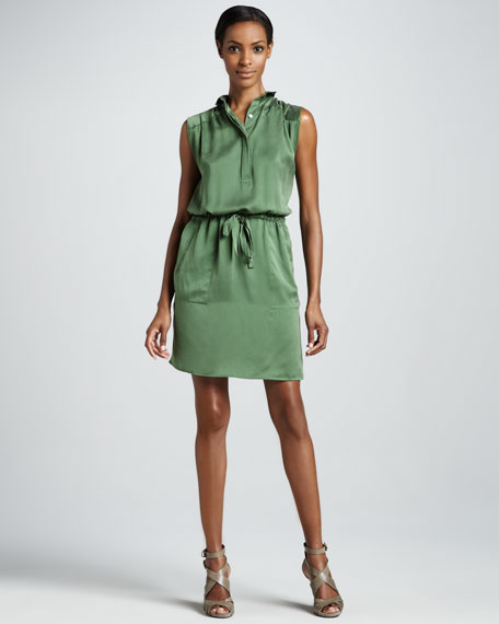 Box Pleat Shirtdress