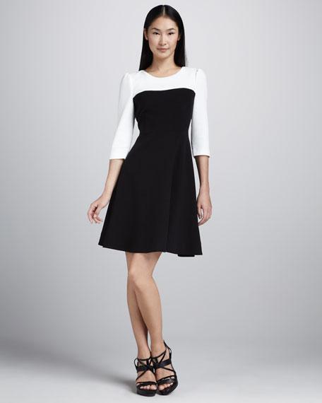 olsen two-tone dress