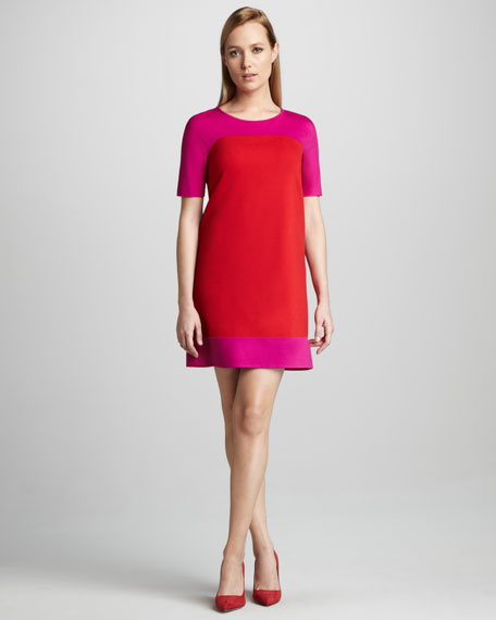 racquel colorblock short-sleeve dress