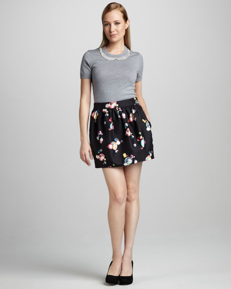 henrita gem-print skirt