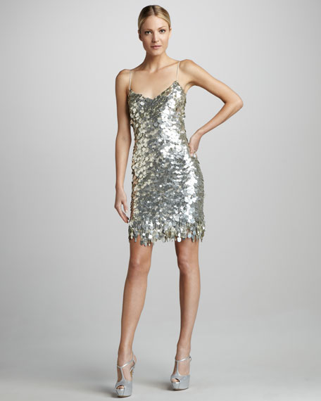 Paillette Cocktail Slip Dress
