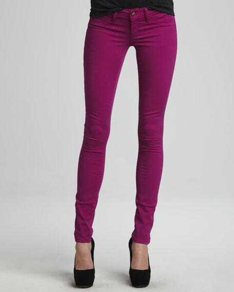 Spring Street Skinny Jeans, Purple
