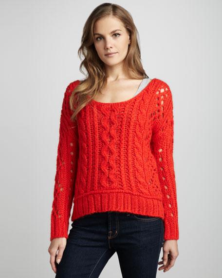 Wide-Stitch Sweater
