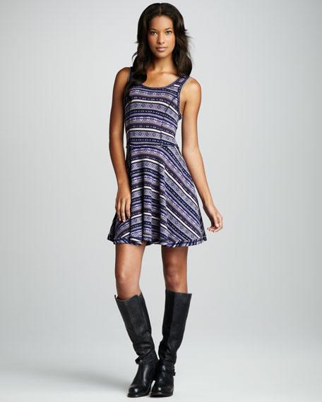 Fair Isle Flared Dress (Stylist Pick!)