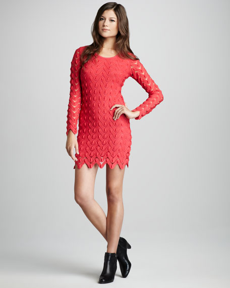Wild Thing Crochet Dress, Pink
