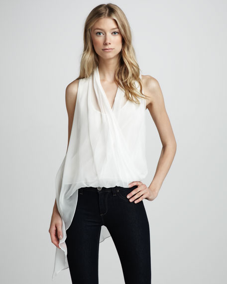 Jillian Asymmetric Sheer Top