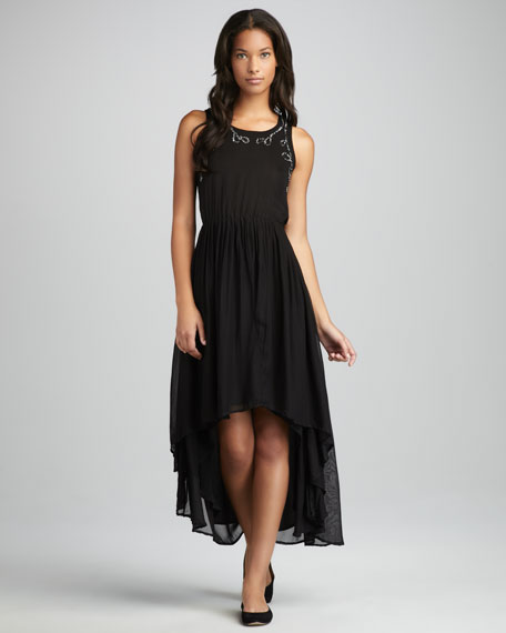 Gallo High-Low Maxi Dress