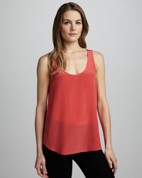 Relaxed Silk Tank, Pink