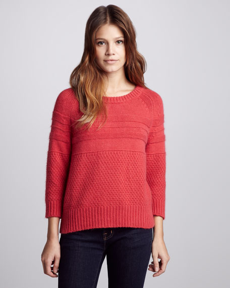 Mix-Pattern Knit Sweater