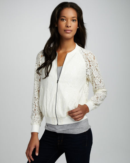 Isabella Daisy-Embroidered Bomber Jacket