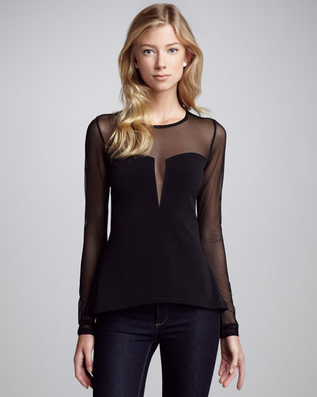 Adia Sheer-Detail Top