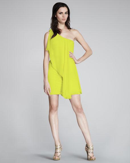 Chiffon-Drape Dress