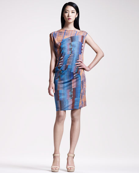 Asymmetric Check Dress