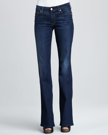 7 For All Mankind Kimmie Sophisticated Sir Squiggle-Pocket Boot-Cut Jeans