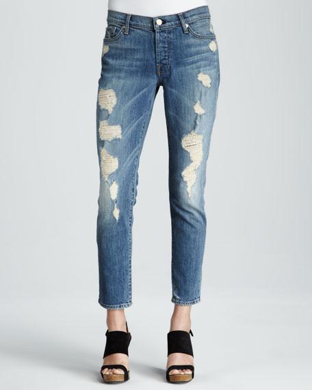 Josefina Luminous Light Destroy Skinny Boyfriend Jeans