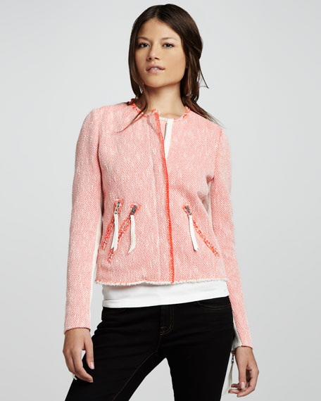 Tweed Zip-Pocket Jacket