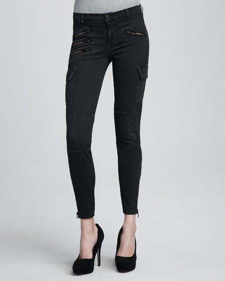 1448 Brix Vintage Evergreen Skinny Cargo Jeans