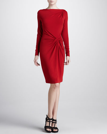 Side-Twist Jersey Dress