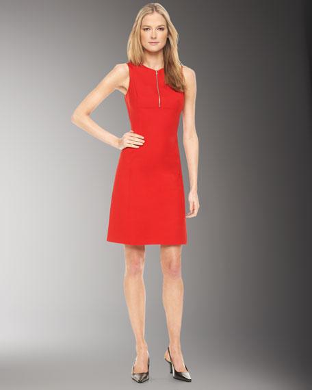 Zip-Front Dress