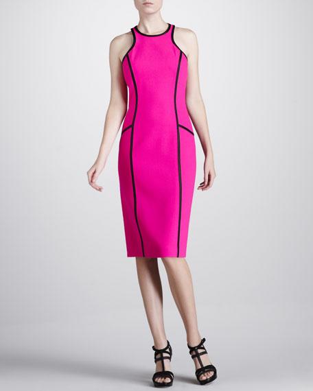 Boucle Crepe Racerback Sheath Dress