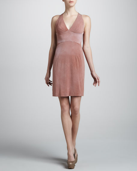 Jersey Halter Dress, Adobe