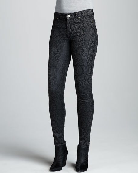 Damask Print Brocade Leggings