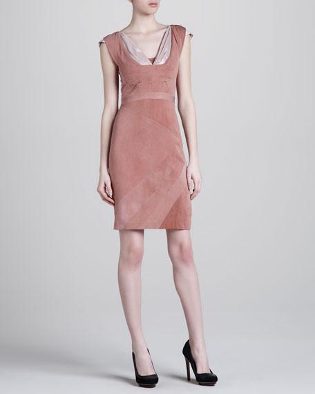 Cap-Sleeve Jersey Dress, Adobe