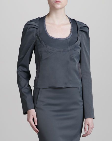 Stretch Suit Jacket, Pewter