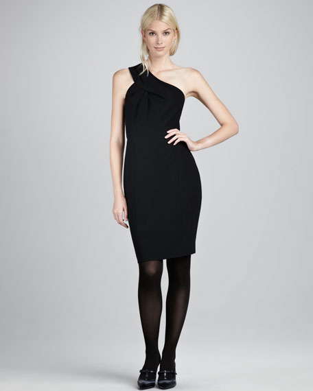 Ashlee Crepe Dress, Black