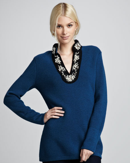 Cormac Embellished Knit Tunic