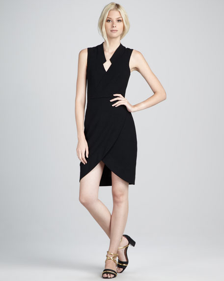 Annabel Faux-Wrap Dress