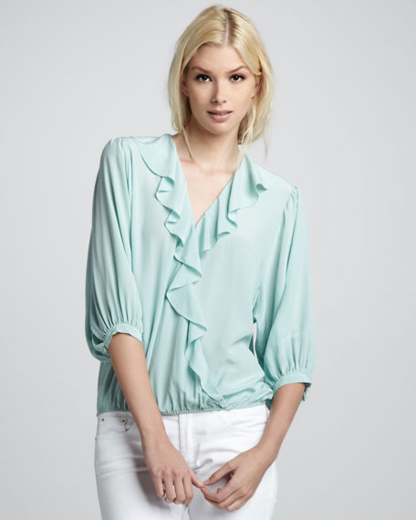 Morris Ruffled Surplice Blouse