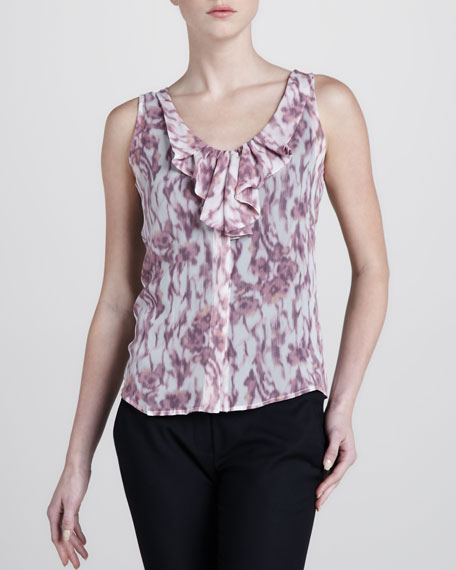 Animal-Print Sleeveless Blouse