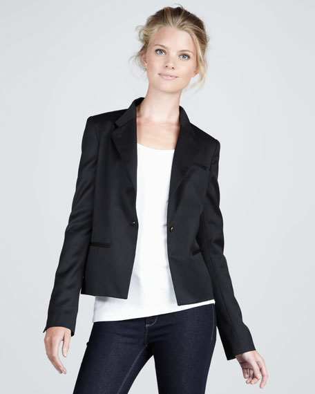 Elizabeth and James Daniel Mock-Collar Blazer