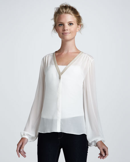 Miriam Sheer Silk Blouse
