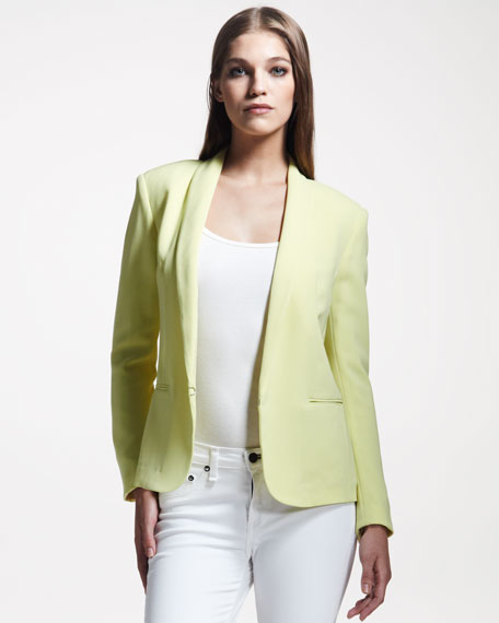 Sliver Crepe Tuxedo Jacket
