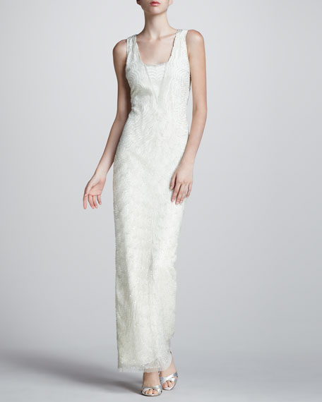 Scallop Beaded Gown