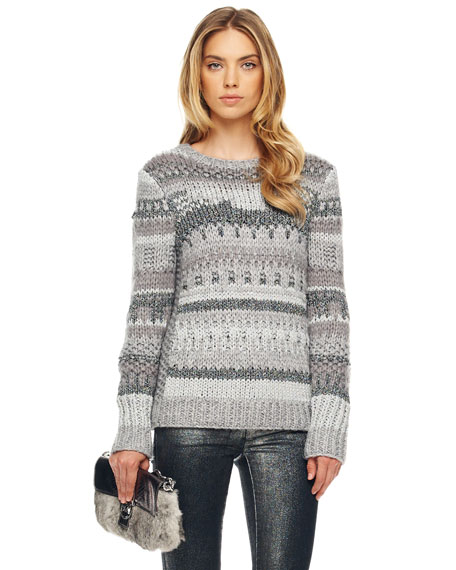 Textured Intarsia Sweater