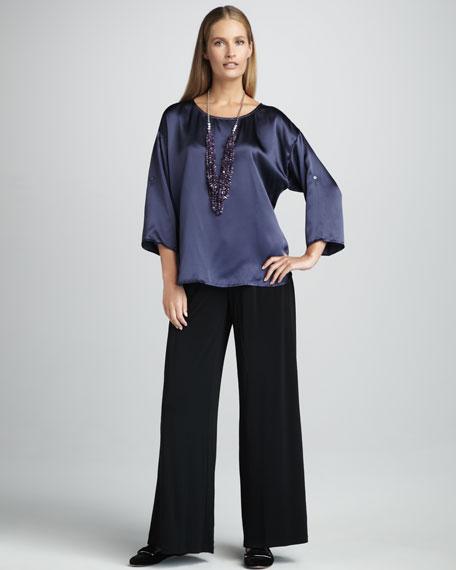 Silk-Jersey Wide-Leg Pants