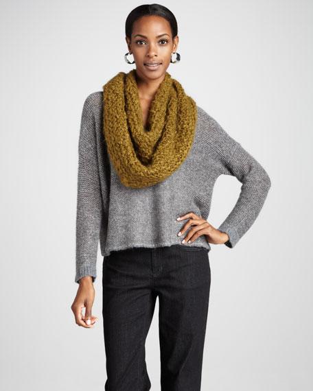 Alpaca V-Neck Sweater Top, Petite